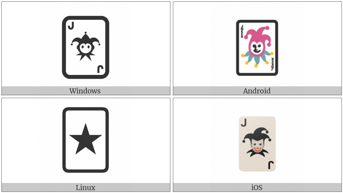 Playing Card Black Joker on various operating systems
