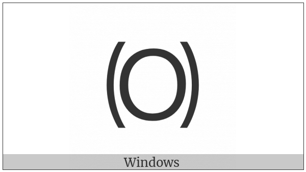 Parenthesized Latin Capital Letter O on various operating systems