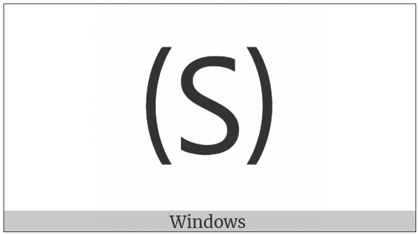 Parenthesized Latin Capital Letter S on various operating systems