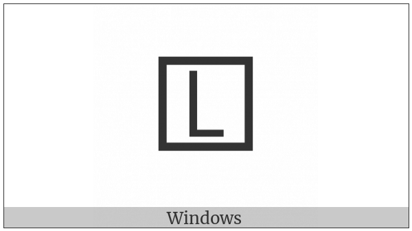 Squared Latin Capital Letter L on various operating systems