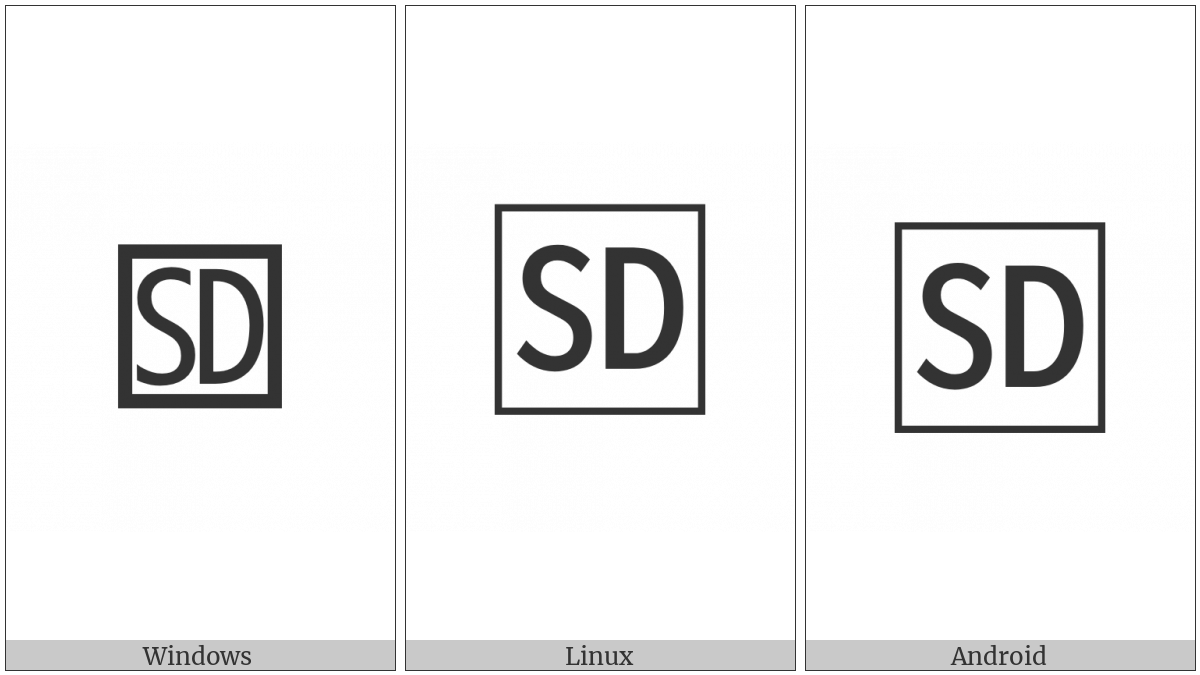 Squared Sd on various operating systems