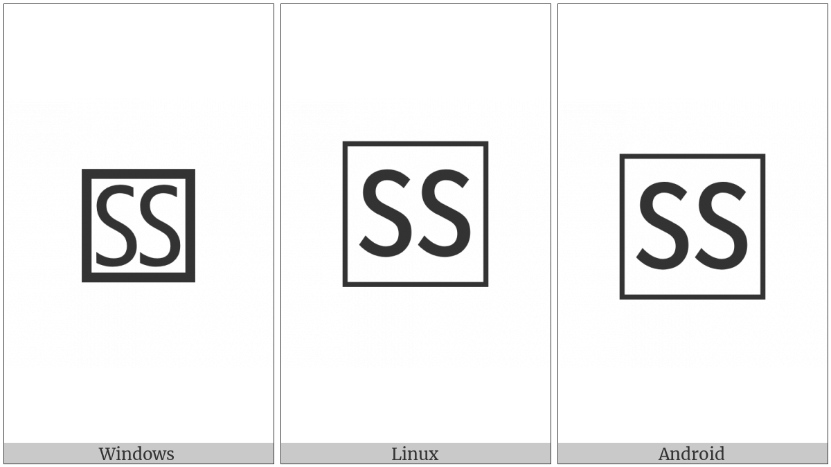 Squared Ss on various operating systems