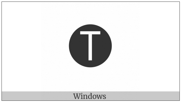 Negative Circled Latin Capital Letter T on various operating systems