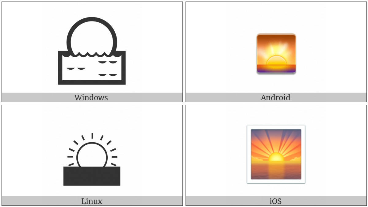 Sunrise on various operating systems