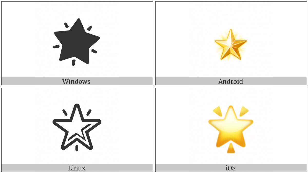 Glowing Star on various operating systems