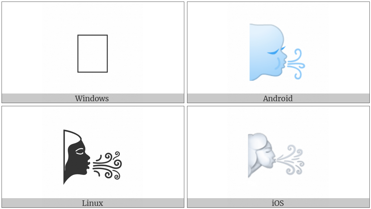 Wind Blowing Face on various operating systems