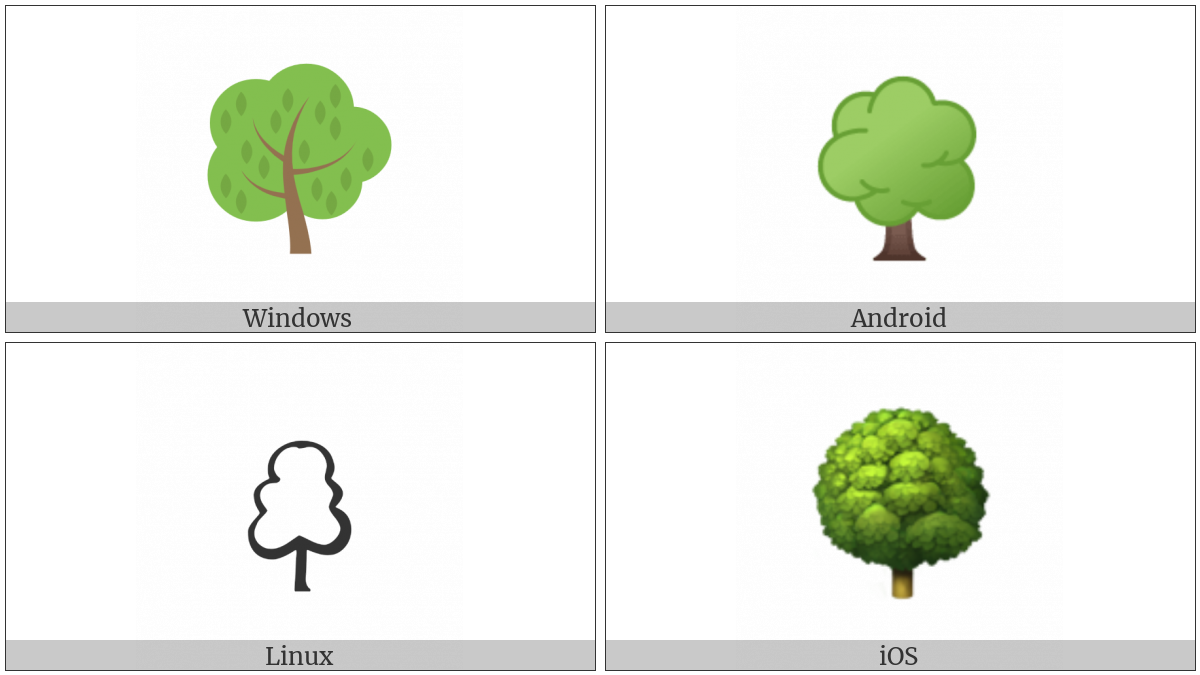 Deciduous Tree on various operating systems