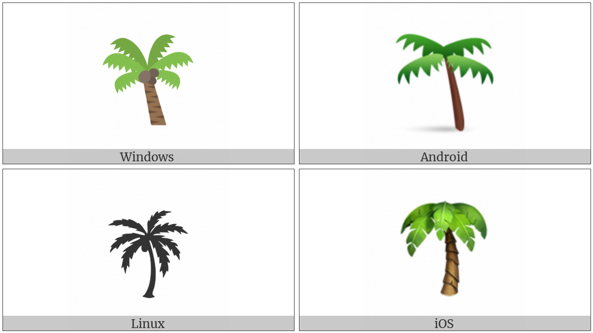 Palm Tree on various operating systems