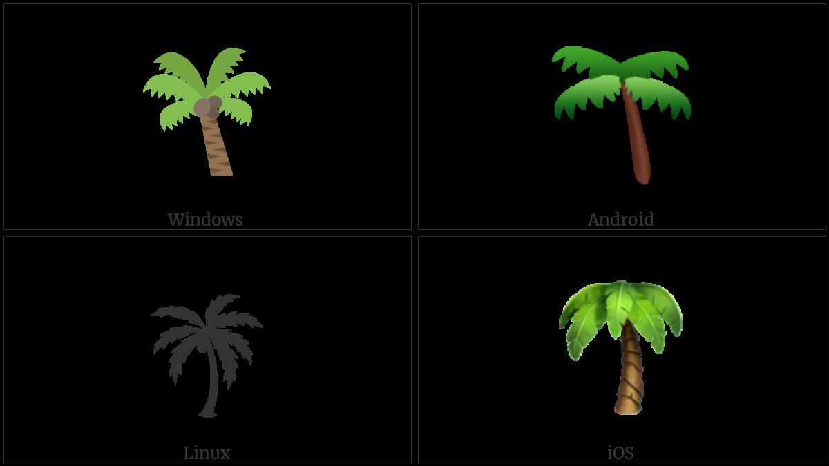 Palm Tree Utf 8 Icons