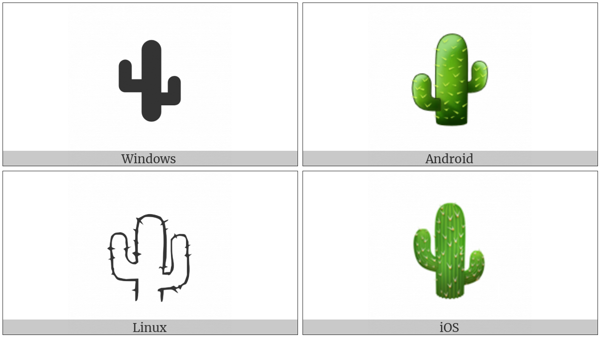 Cactus on various operating systems