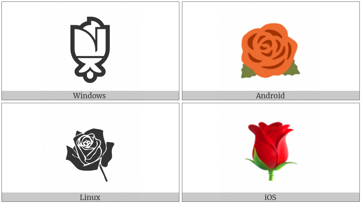 Rose on various operating systems