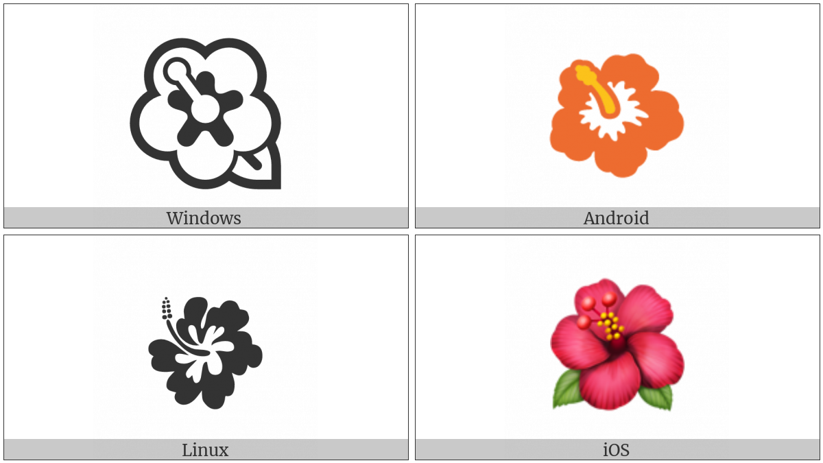 Hibiscus on various operating systems