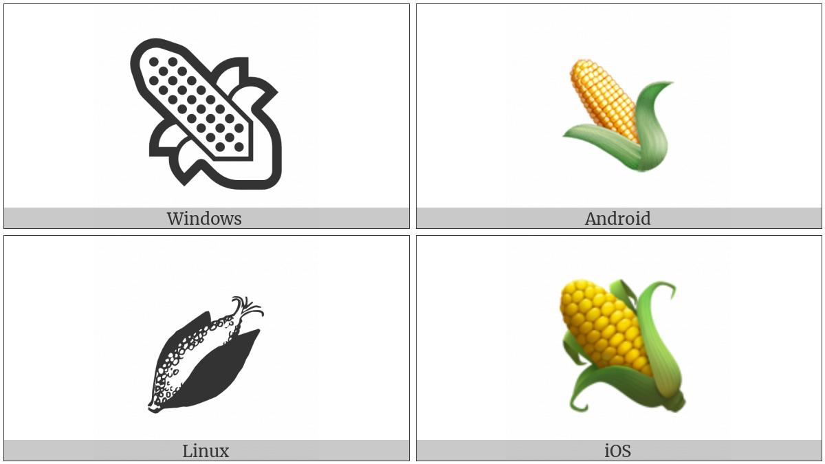 Ear Of Maize on various operating systems