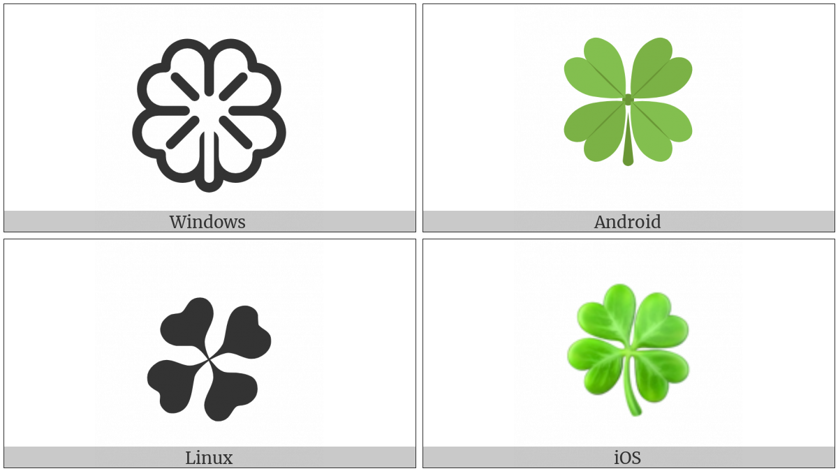 Four Leaf Clover Utf 8 Icons