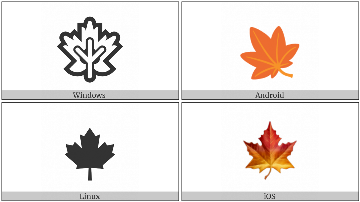 Maple Leaf on various operating systems