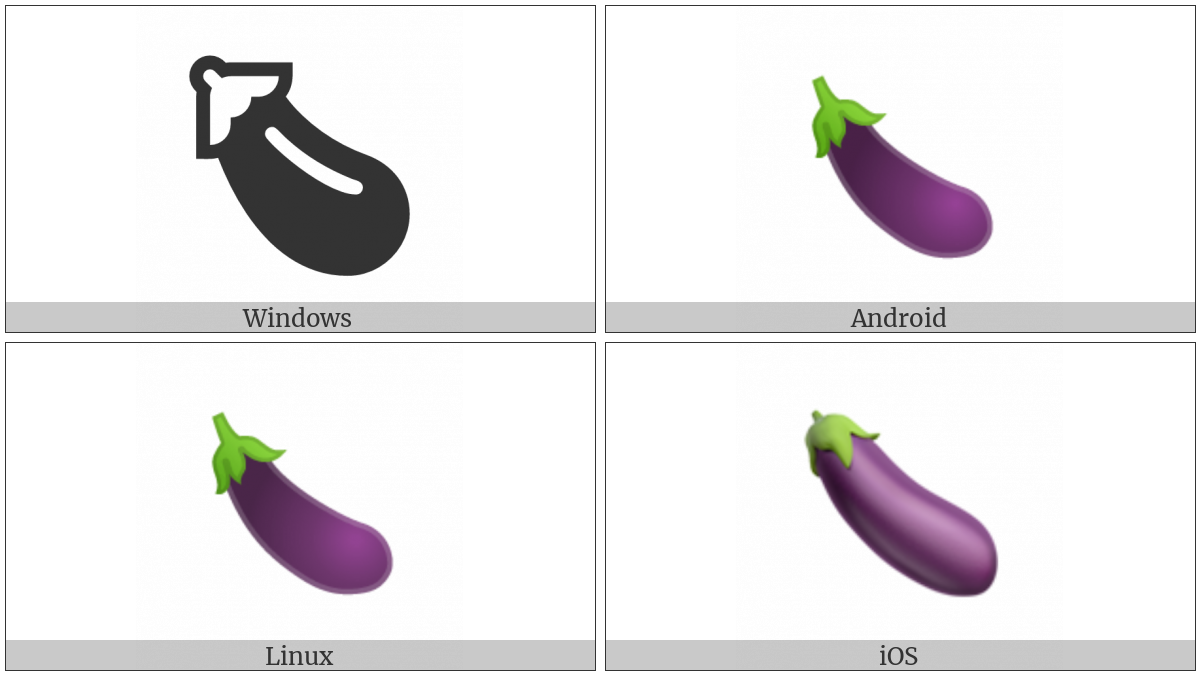 Aubergine on various operating systems