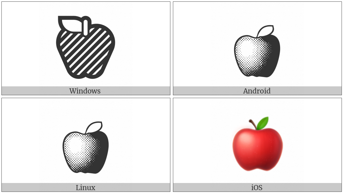 Red Apple on various operating systems