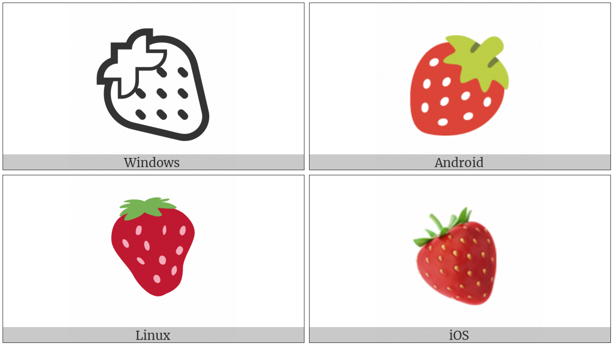 Strawberry on various operating systems