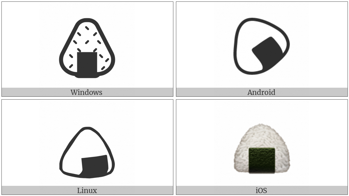 Rice Ball on various operating systems