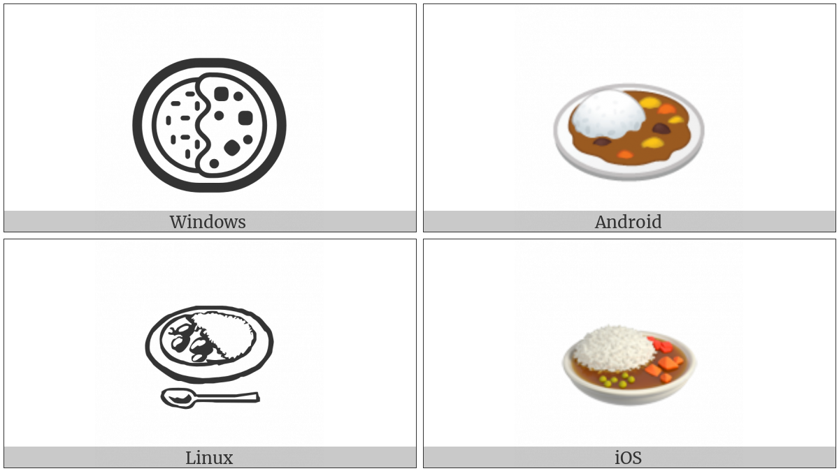 Curry And Rice on various operating systems