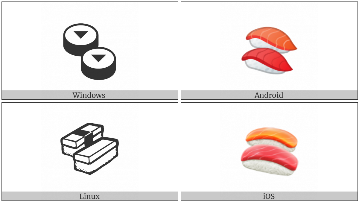 Sushi on various operating systems