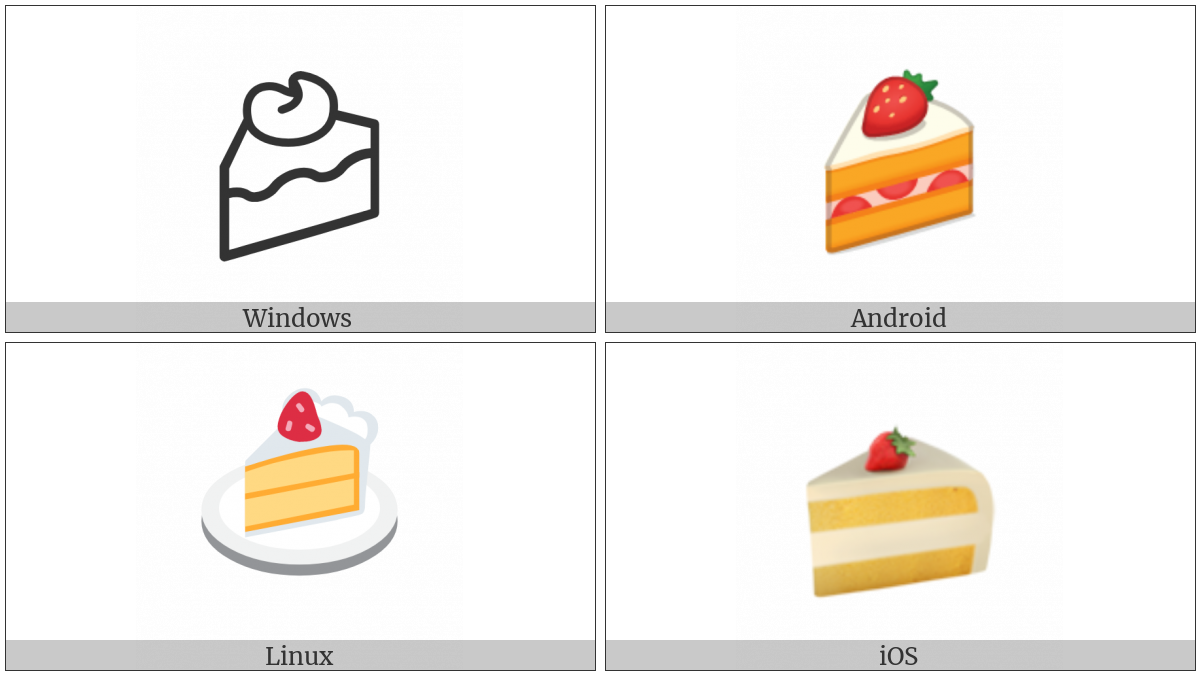 Shortcake on various operating systems
