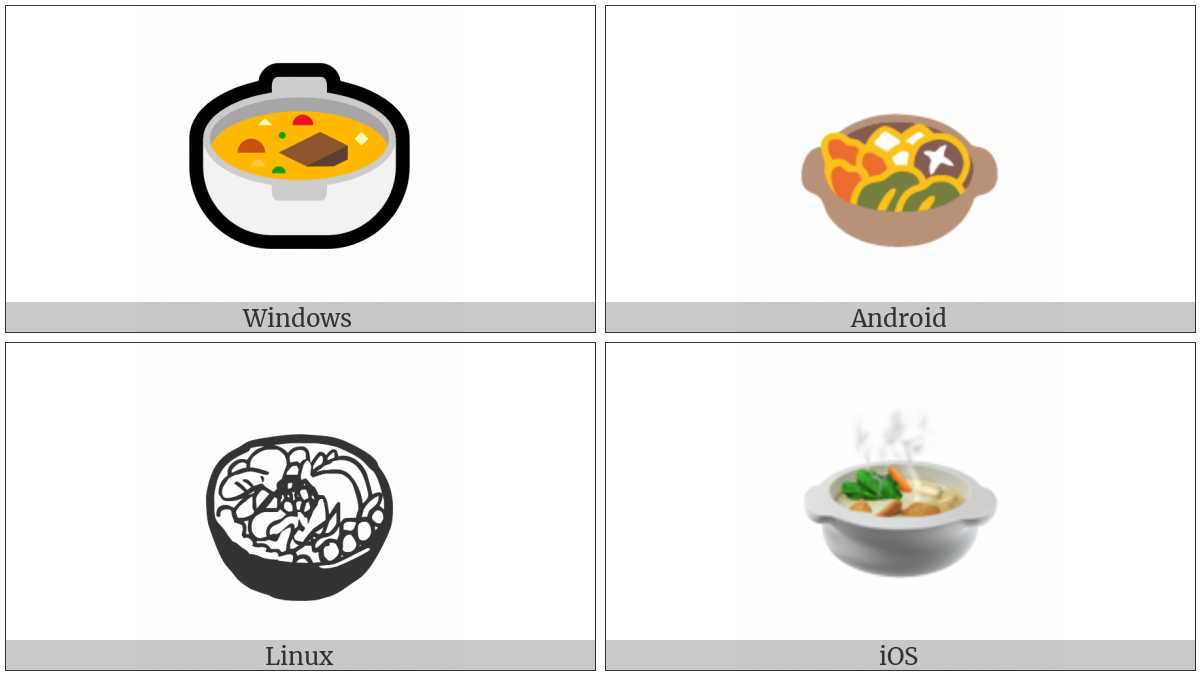 Pot Of Food on various operating systems