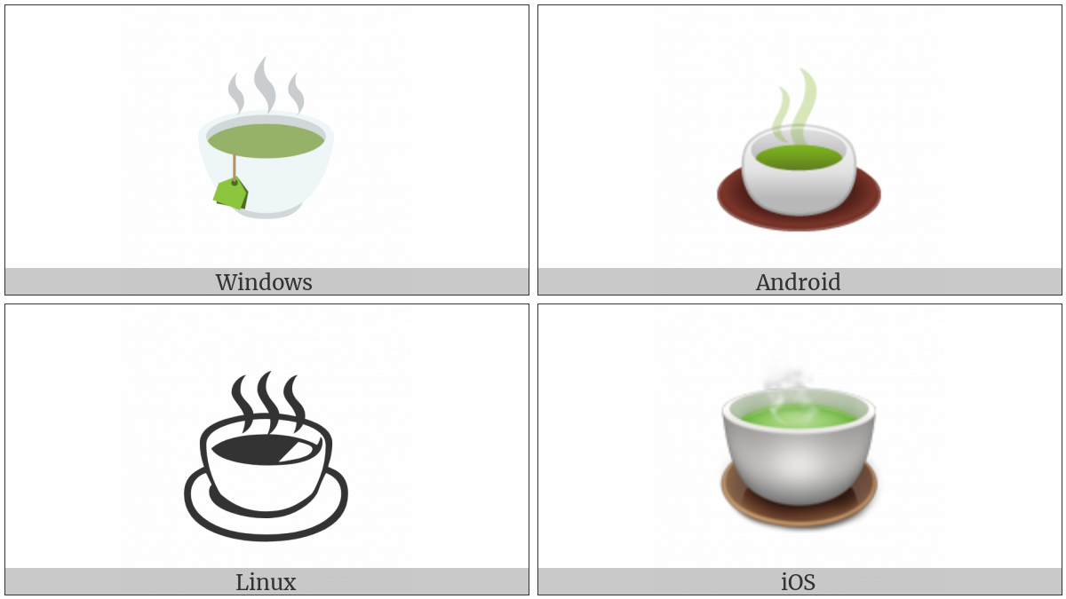 Teacup Without Handle on various operating systems