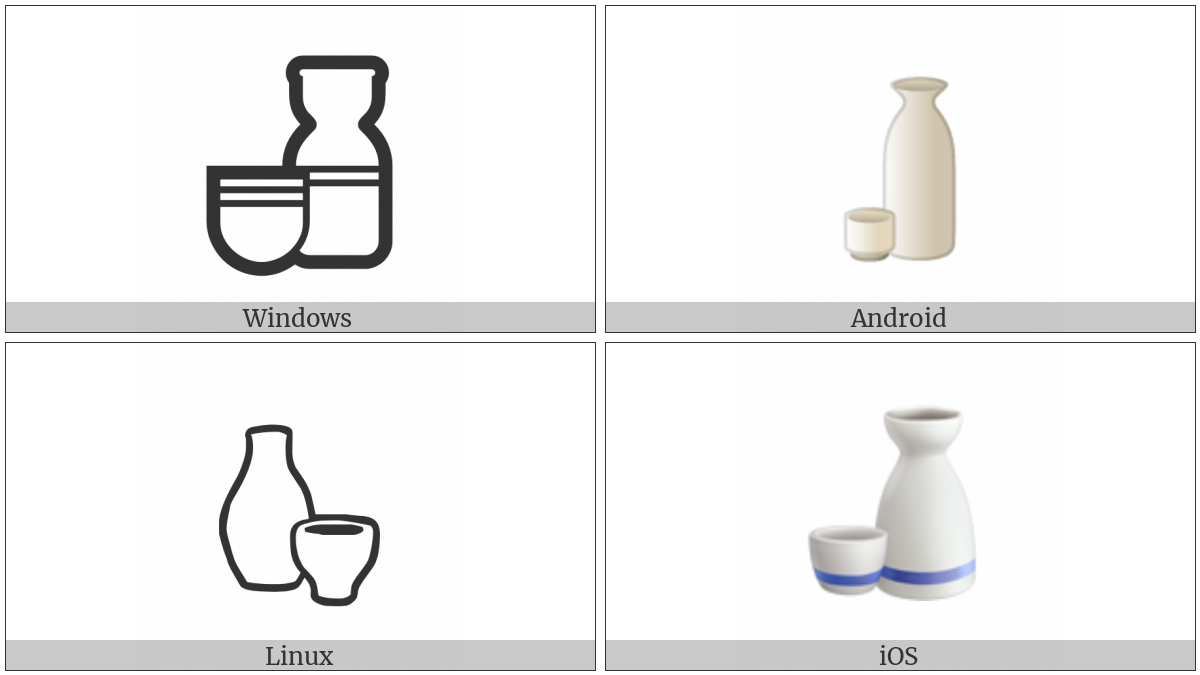 Sake Bottle And Cup on various operating systems