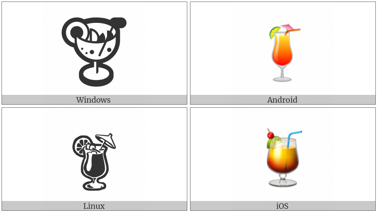 Tropical Drink on various operating systems