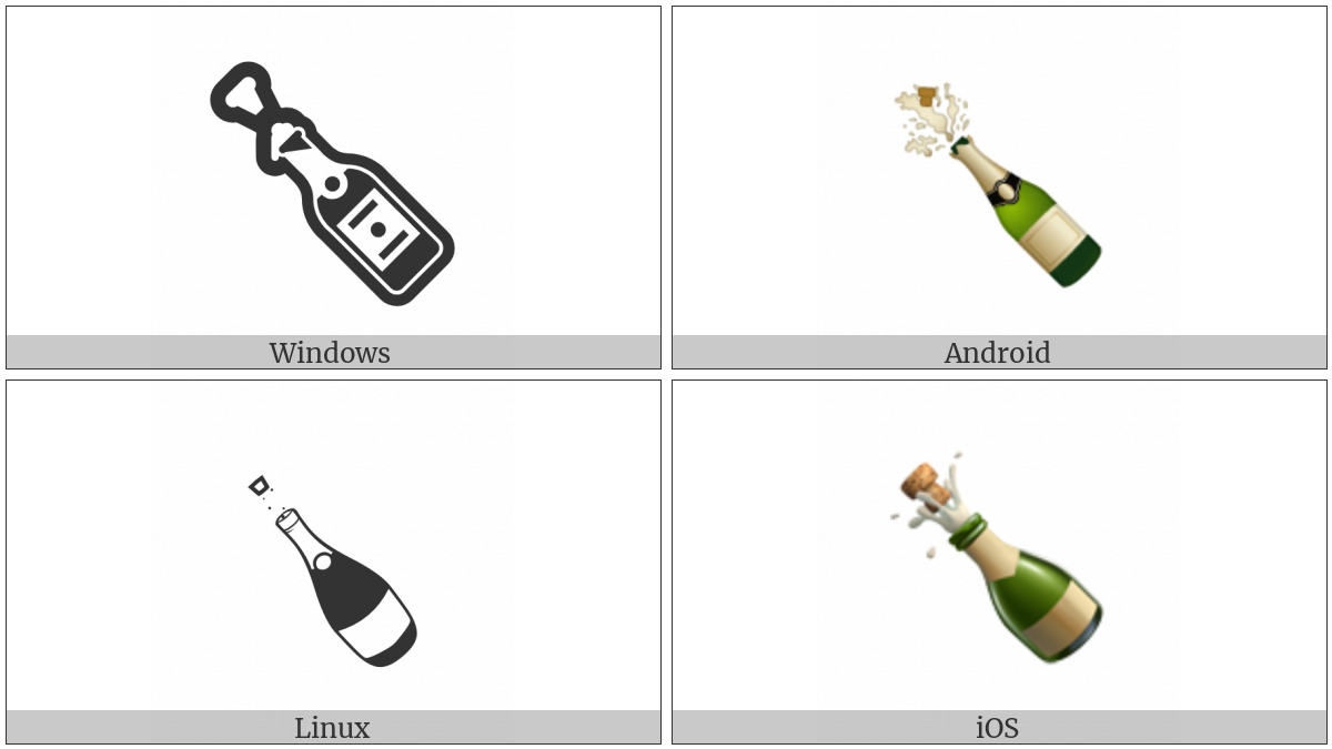 Bottle With Popping Cork on various operating systems