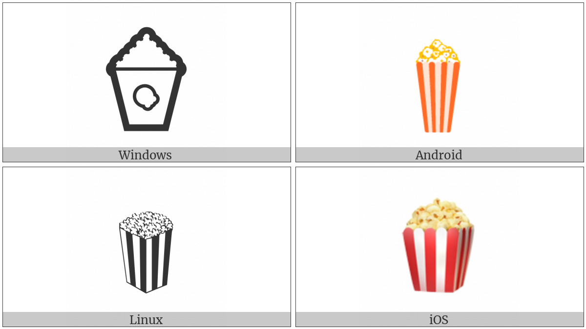 Popcorn on various operating systems