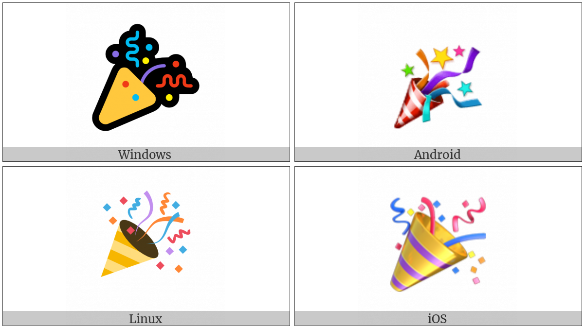 Party Popper on various operating systems