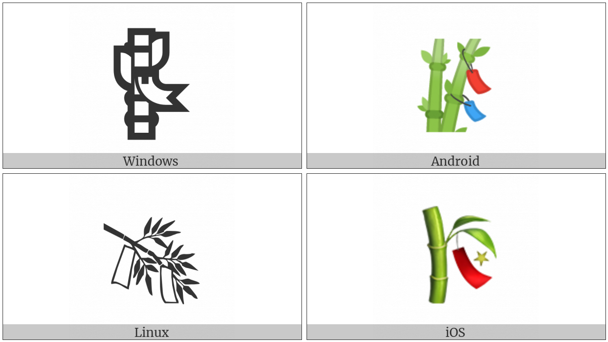 Tanabata Tree on various operating systems