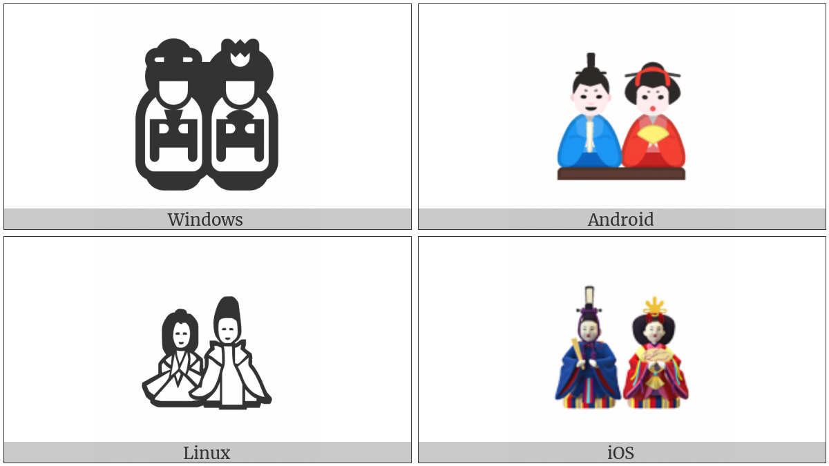 Japanese Dolls on various operating systems