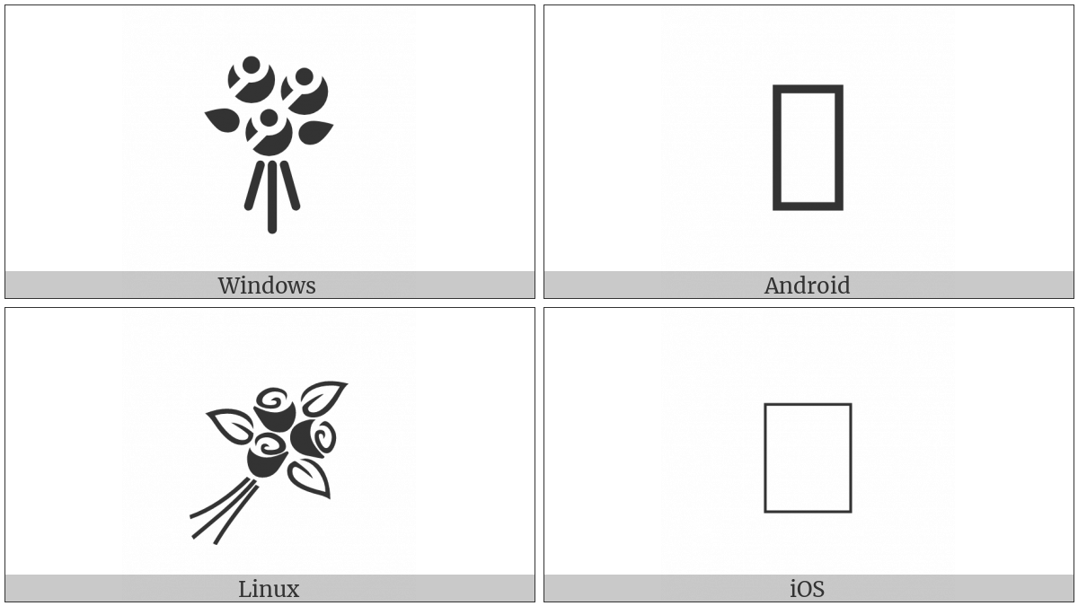 Bouquet Of Flowers on various operating systems