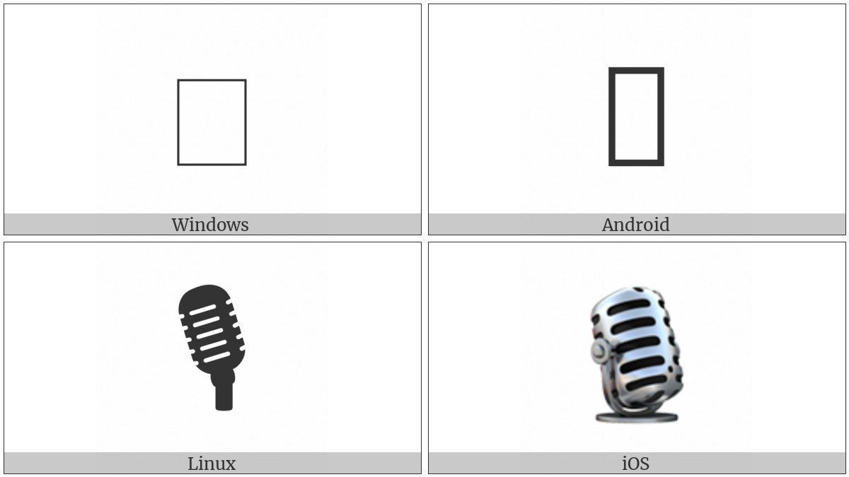 Studio Microphone on various operating systems