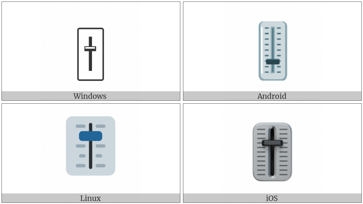 Level Slider on various operating systems