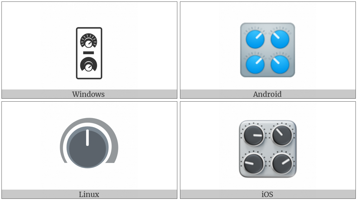 Control Knobs on various operating systems