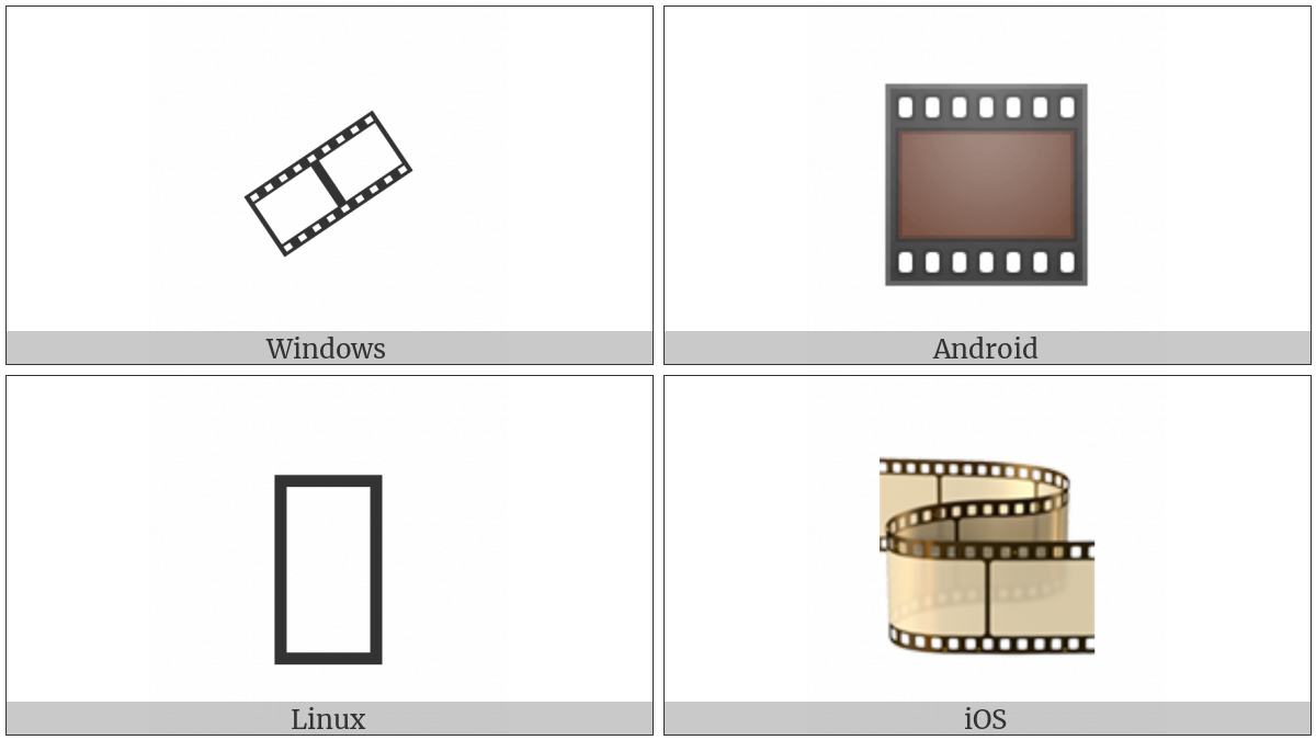 Film Frames on various operating systems