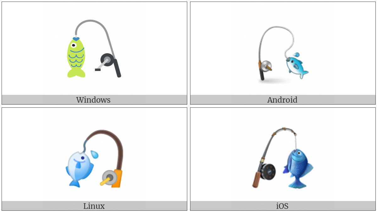 Fishing Pole And Fish on various operating systems