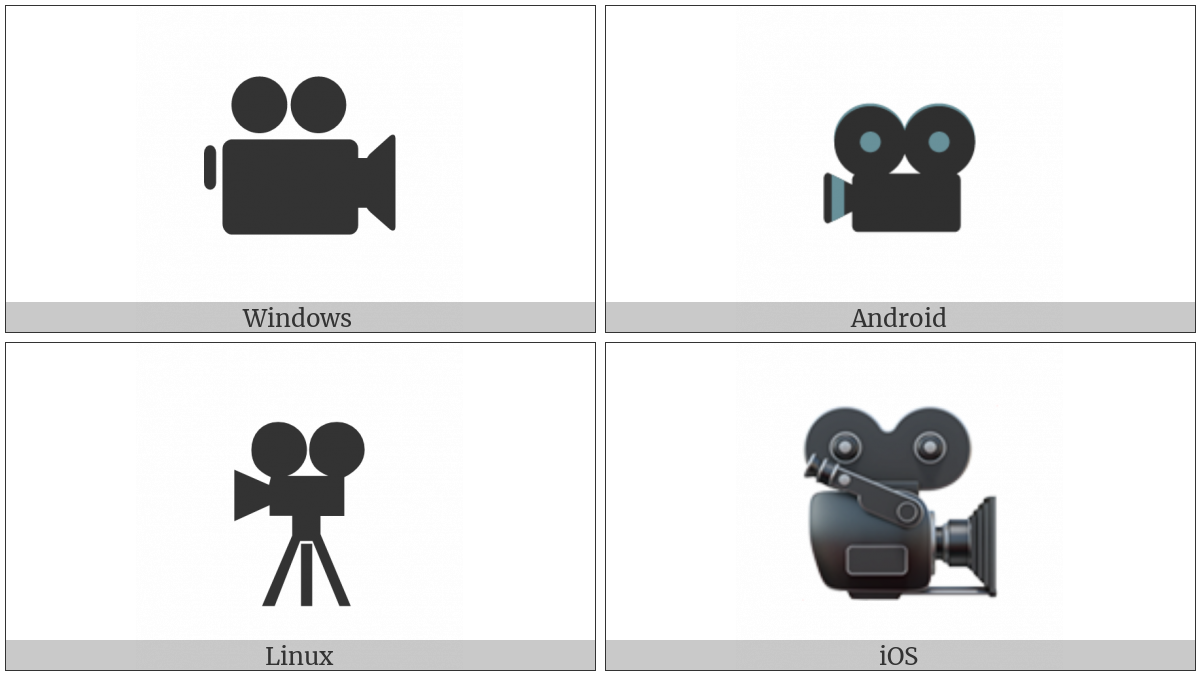 Movie Camera on various operating systems
