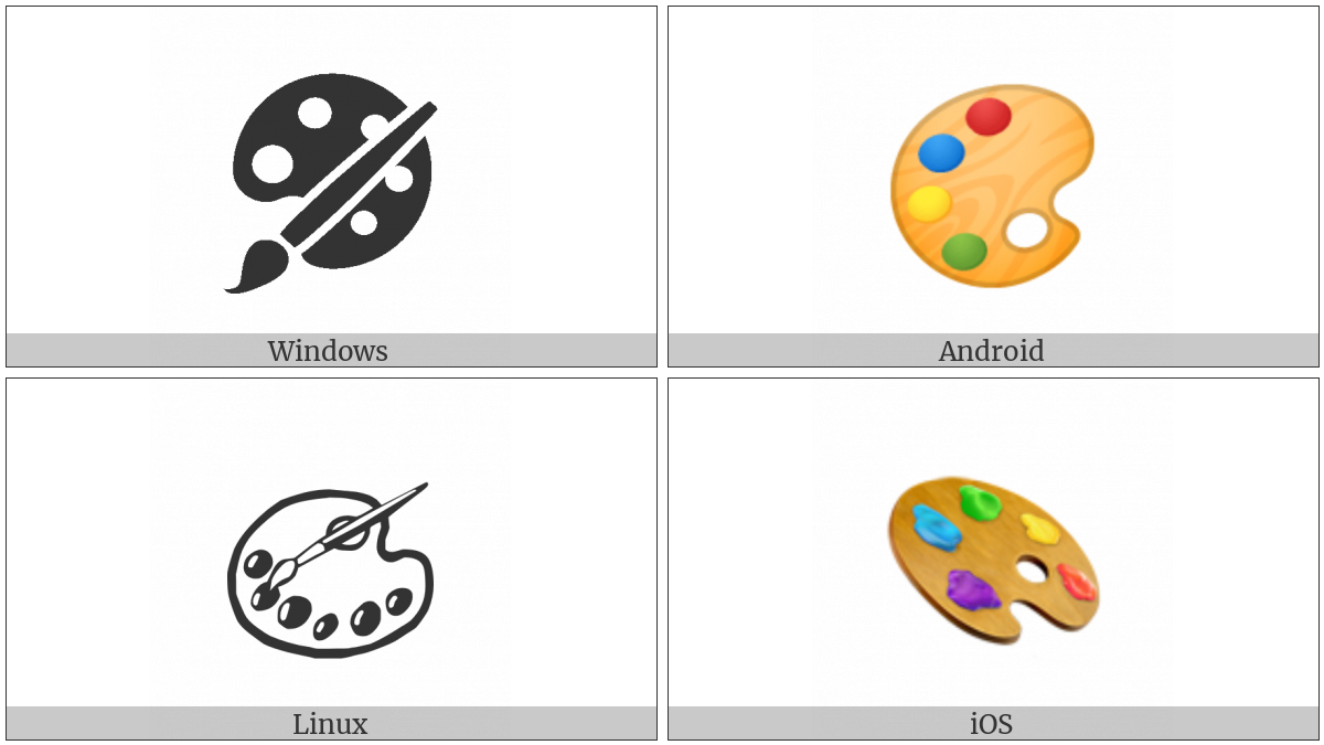 Artist Palette on various operating systems