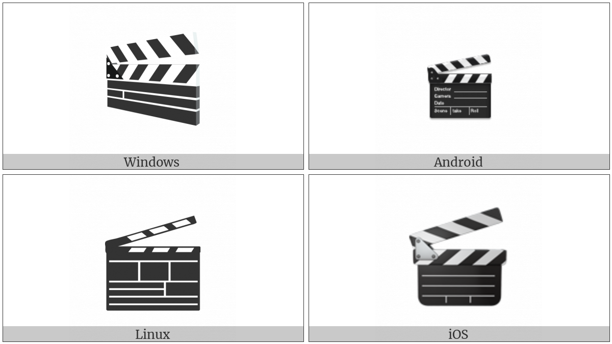 Clapper Board on various operating systems