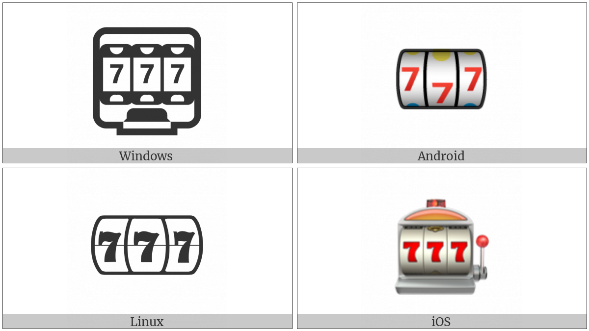 Slot Machine on various operating systems