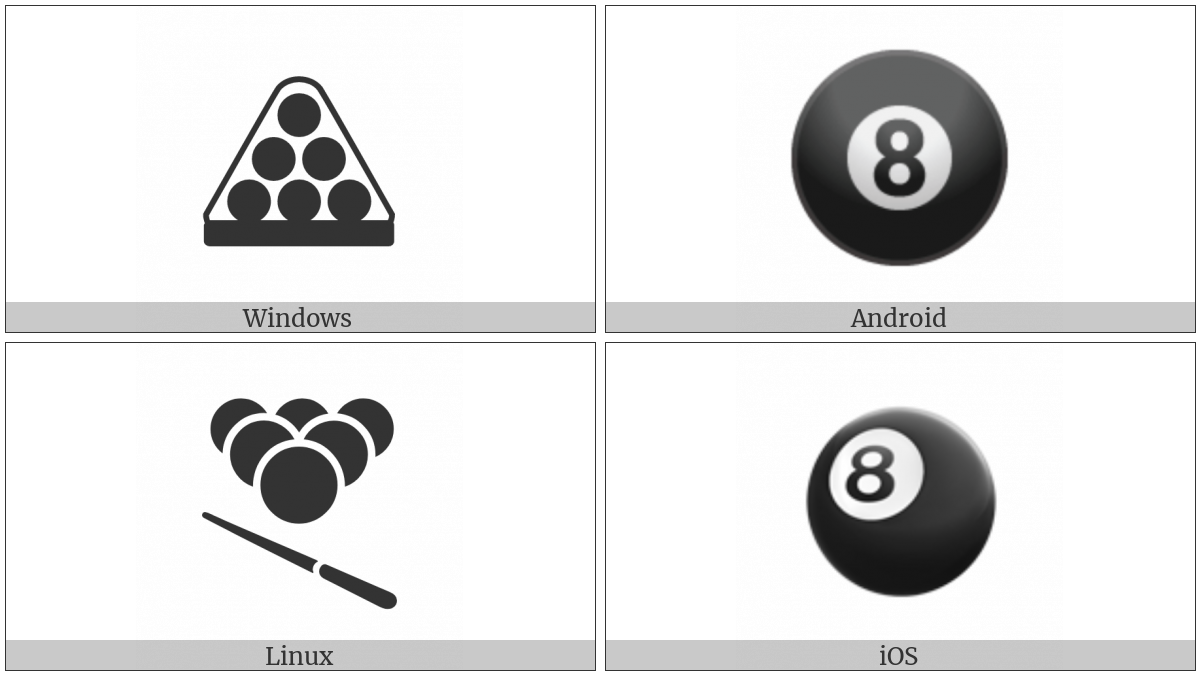 Billiards on various operating systems