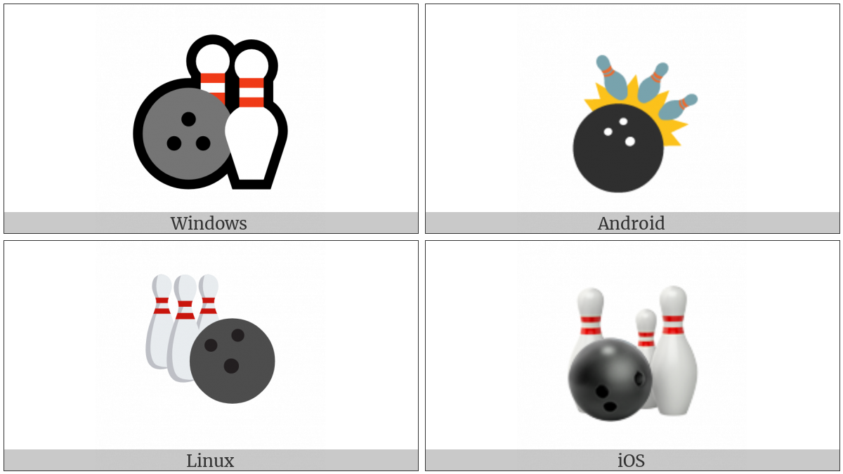 Bowling on various operating systems