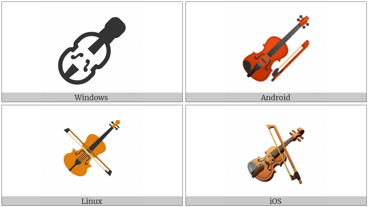 Violin on various operating systems