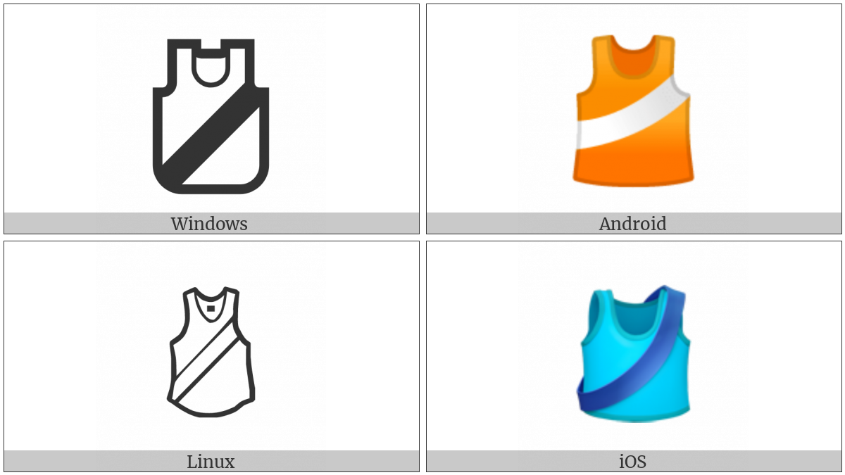 Running Shirt With Sash on various operating systems