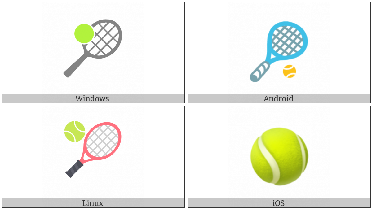 Tennis Racquet And Ball on various operating systems